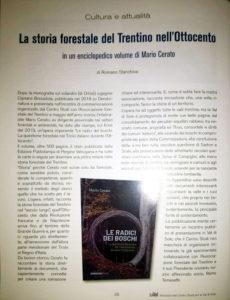 """""""La storia forestale del Trentino nell'Ottocento"""", """"La Val"""" - rivista del Centro studi val di Sole - gennaio-marzo 2020"""