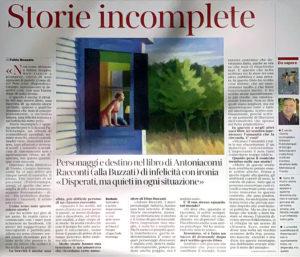 """""""Storie incomplete"""", Corriere del Trentino - 6 giugno 2020"""