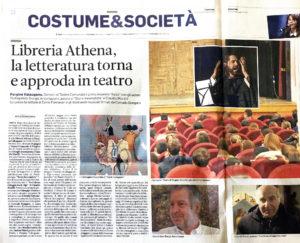 """""""Libreria Athena, la letteratura torna e approda in teatro"""", Trentino - 18 giugno 2020"""