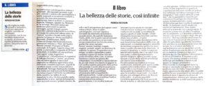 """""""Il libro: La bellezza delle storie, così infinite"""", l'Adige - 21 giugno 2020"""