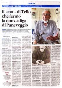 """""""Il 'no' di Tello che fermò la nuova diga di Paneveggio"""", Trentino - 15 agosto 2020"""