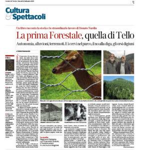 """""""La prima Forestale, quella di Tello"""", Corriere del Trentino - 24 settembre 2020"""