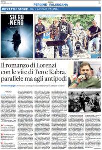 """""""Il romanzo di Lorenzi con le vite di Teo e Kabra, parallele ma agli antipodi"""", Trentino - 11 ottobre 2020"""