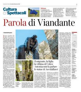"""""""Parola di Viandante"""", Corriere del Trentino - 1 novembre 2020"""