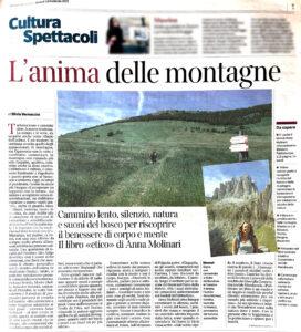 """""""L'anima delle montagne"""", Corriere del Trentino - 18 febbraio 2021"""
