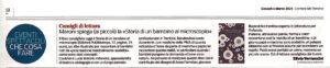 """""""Consigli di Lettura. Maroni spiega (ai piccoli) la «Storia di un bambino al microscopio»"""", Corriere del Trentino - 4 marzo 2021"""