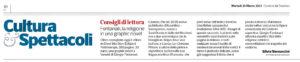 """""""Consigli di Lettura. Fontanari, la religione in una graphic novel"""", Corriere del Trentino – 30 marzo 2021"""