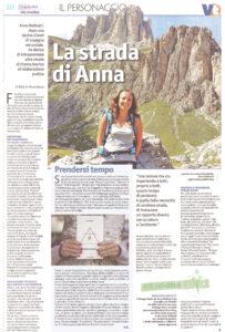 """""""La strada di Anna"""", Vita Trentina – 11 aprile 2021"""