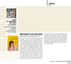 """Cultura libri: """"Montessori è solo una moda"""", Cooperazione tra consumatori - maggio 2021"""