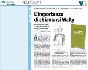 """""""L'importanza di chiamarsi Wally"""", Vita Trentina – 18 luglio 2021"""