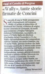 «Wally», tante storie firmate de Concini, Corriere del Trentino – 9 luglio 2021