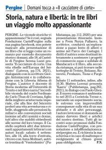 """""""Storia, natura e libertà: in tre libri un viaggio molto appassionante"""", l'Adige – 2 settembre 2021"""